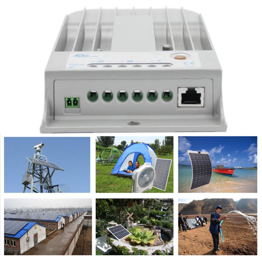 1pc Universal Tracer3215BN MPPT 12V/24V 30A Aluminum Solar Charge Panel Controller Auto Work High Efficiency RS-485 Ports Sale