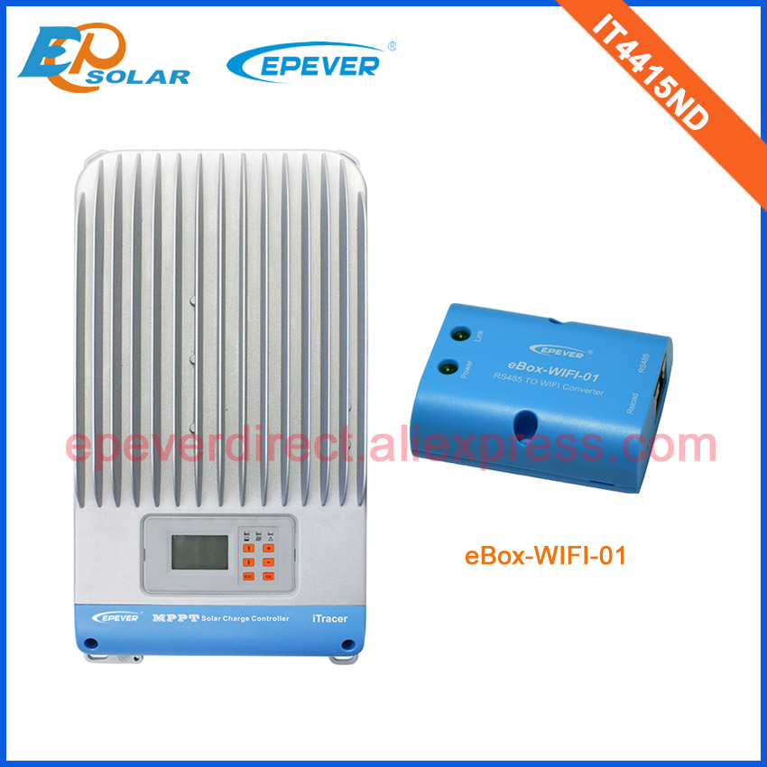 Advanced mppt high effiency solar charging regulators IT4415ND with both wifi and BLE box+MT50 remote meter 45A 45amp