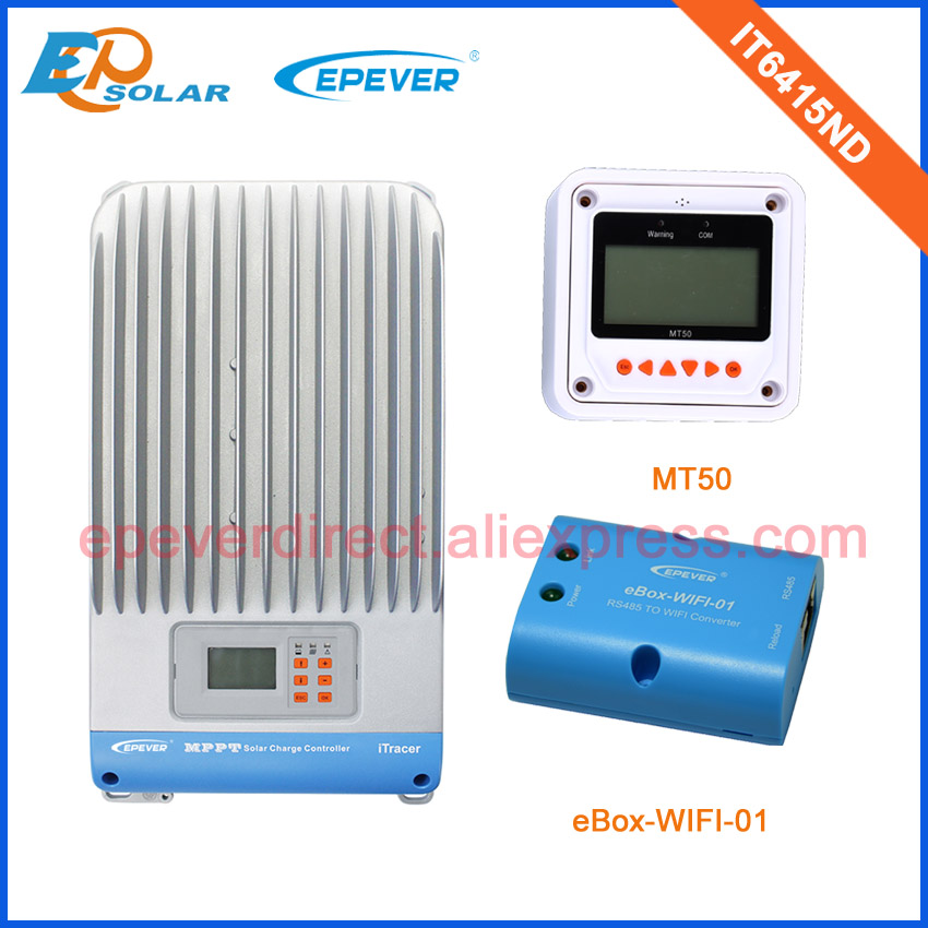 MPPT EPsolar EPEVER brand solar power regulators IT6415ND with white MT50 remote meter 60A 60amp