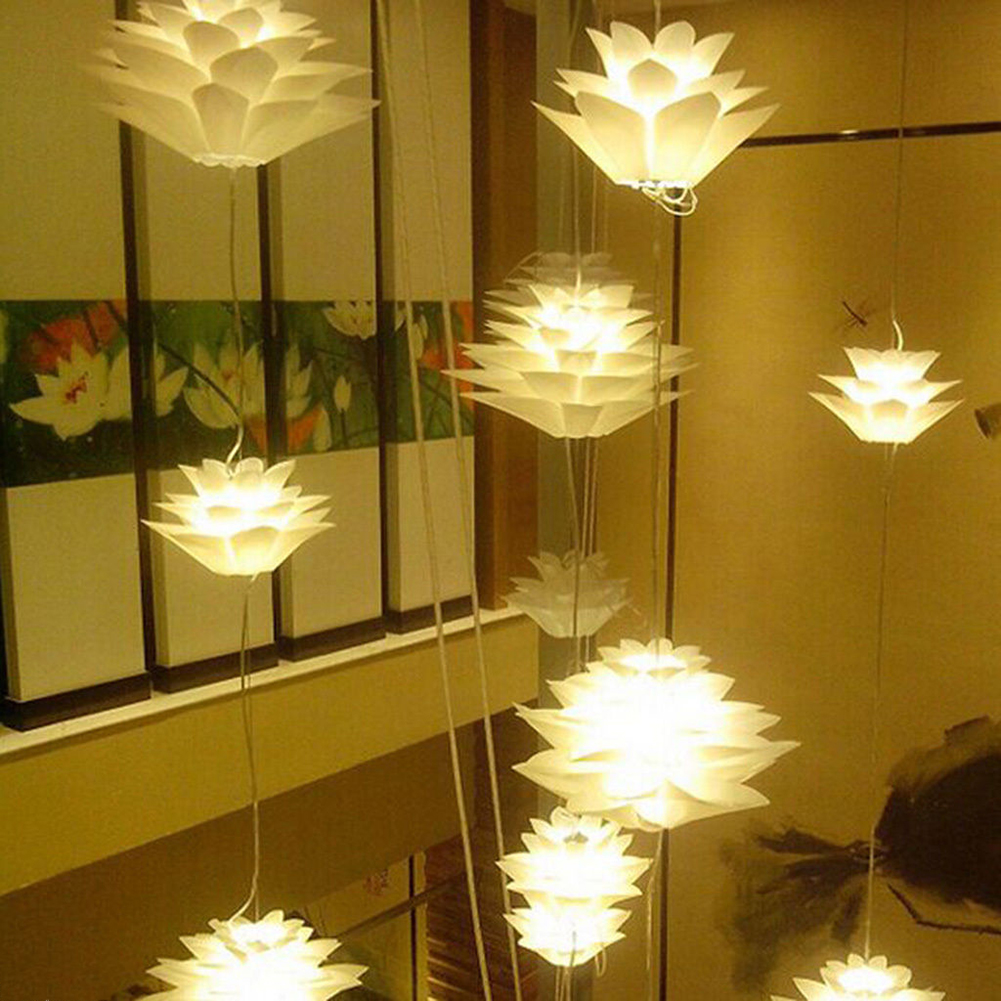 BIFI Hot Lotus Shape DIY Ceiling Lamp Shade Christmas Decor White