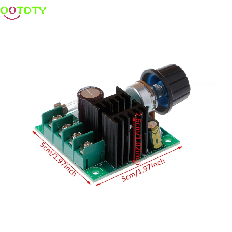1PC 9V-50V 10A PWM DC Motor Speed Controller with Knob Adjustable Speed Regulator  828 Promotion
