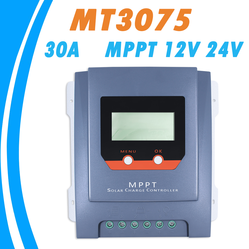 MPPT 30A 12V 24V Solar Charge Controller LCD Display with Real-time Energy Statistics Function for Liquid and GEL Battery NEW