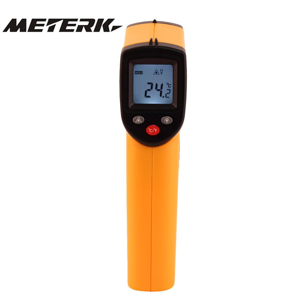 Infrared Thermometer -50~380 Celsius Handheld Non-contact Digital Infrared IR Temperature Pyrometer LCD Display with Backlight