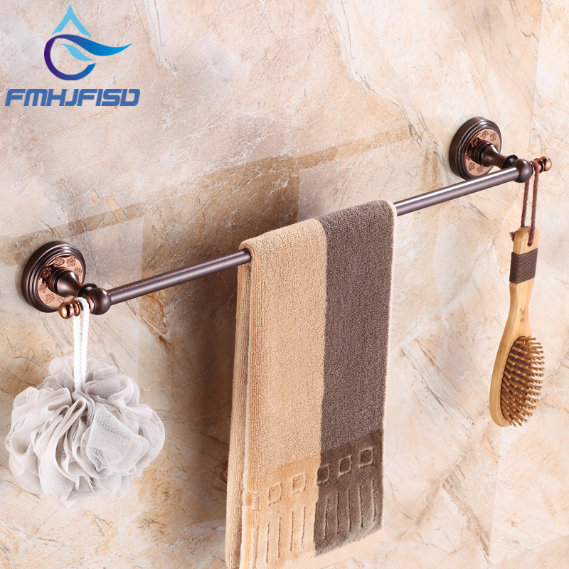 Wall Mounted High Quality Bathroom Single Towel Bar Oil Rubbed Bronze Towel Rack Holder