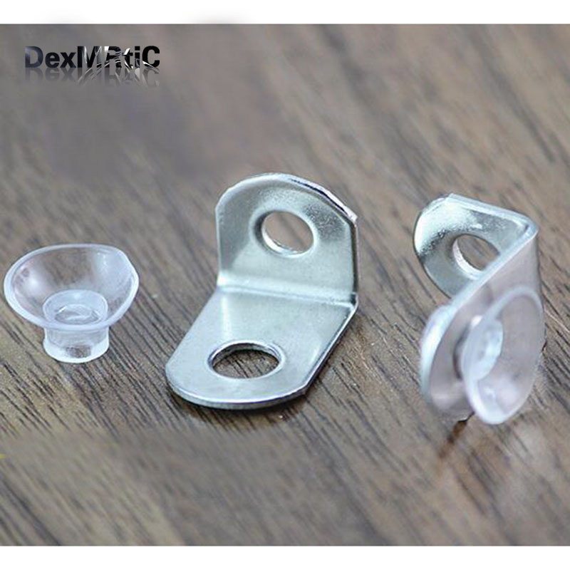 50pcs 21*14mm Stainless Steel Corner Bracket Fittings and Mini Sucker Angle L Breakets Connector for Furniture