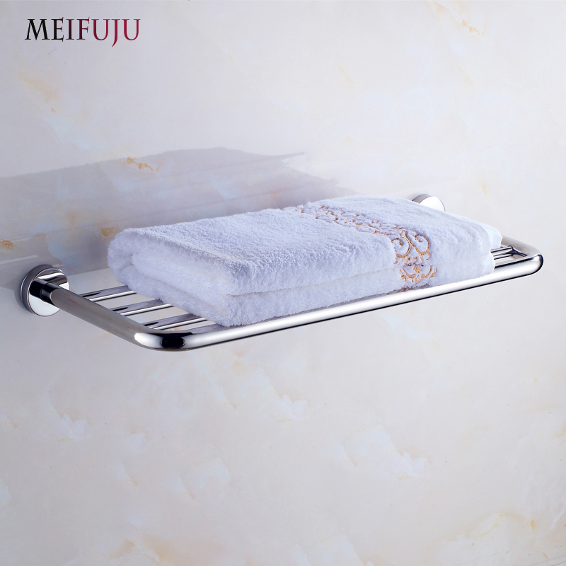 MEIFUJU SUS304 Stainless Steel Bathroom Towel Rack Single Dual Triple Towel Racks Simple Style Towel Shelf Bathroom Shelf MFJ70