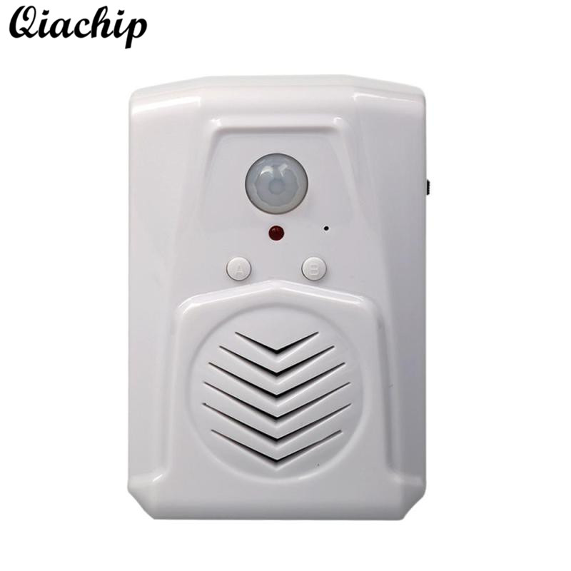 QIACHIP Doorbell Gate Ball PIR Infraared Sensor Motion Sensor Body MP3 Audio Broadcast Voice Switch Prompter Remote Control Kit