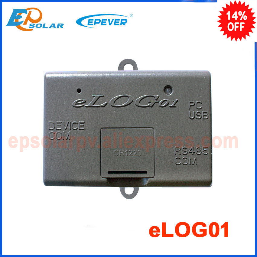 eLOG01 accessory for real-time data record uesd with solar controller of RS485 interface