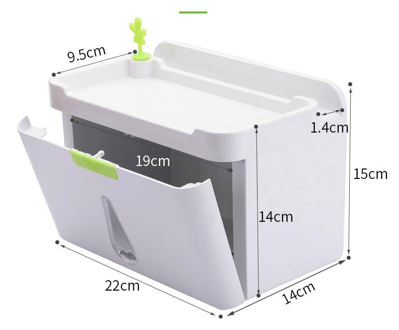 fashion ABS white bathroom viscose water proof wall mounted  paper holder paper case phone holder hanger bathroom accessories