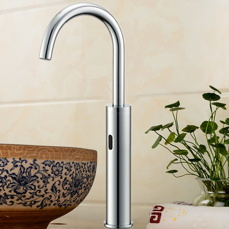 Touchless Quality Brass Chrome Sensor Tap Water Saving Automatic Sensor Faucet Bathroom Basin Faucet Sensor