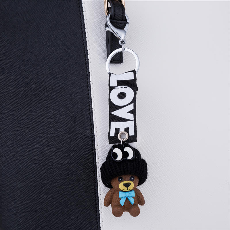 Lovely Bear Key Holders for Kids Girls Bags Trinkets Keychain New 2017 Cute Car Keyrings Charm Women Key Chain Pendant Jewelry