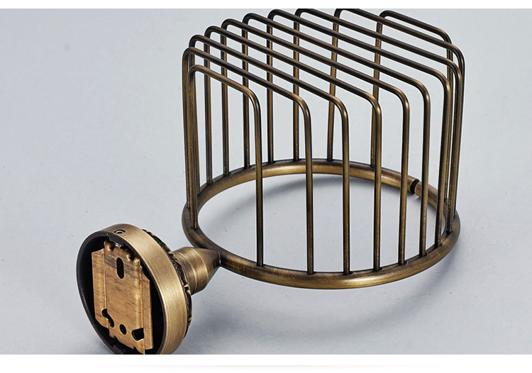Wholesale Toilet paper Holder Antique Brushed Copper Paper Net Basket Paper holder Box 7806