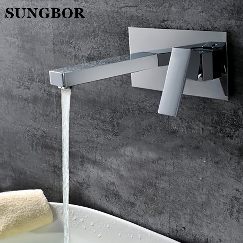 Bathroom Faucet Into the wall cold and hot Water Taps Embedded type Mixer Single Handles Table basin wash basin faucet LT-306L