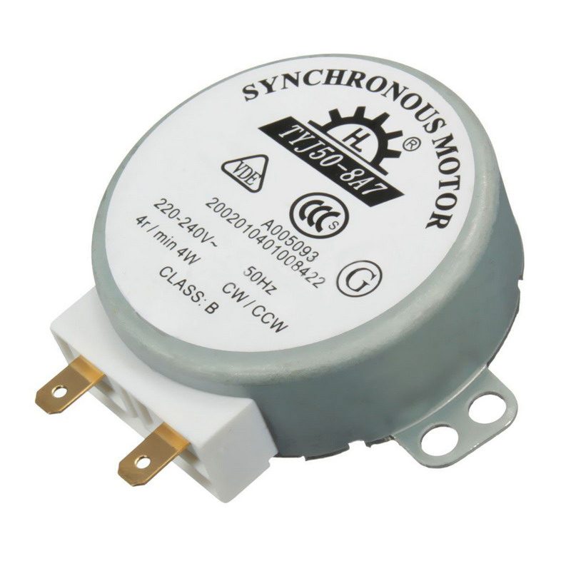 1 PC New  AC 220V-240V 50Hz CW/CCW Microwave Turntable Turn Table Synchronous Motor TYJ50-8A7 D Shaft 4 RPM P20