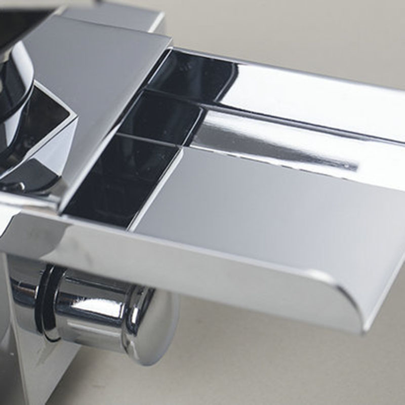 KEMAIDI High Quality  Wide Spout With Handle Shower Bathroom Wall Mounted Chrome Bath Tap Mixer Waterfall  Bathtub Faucet