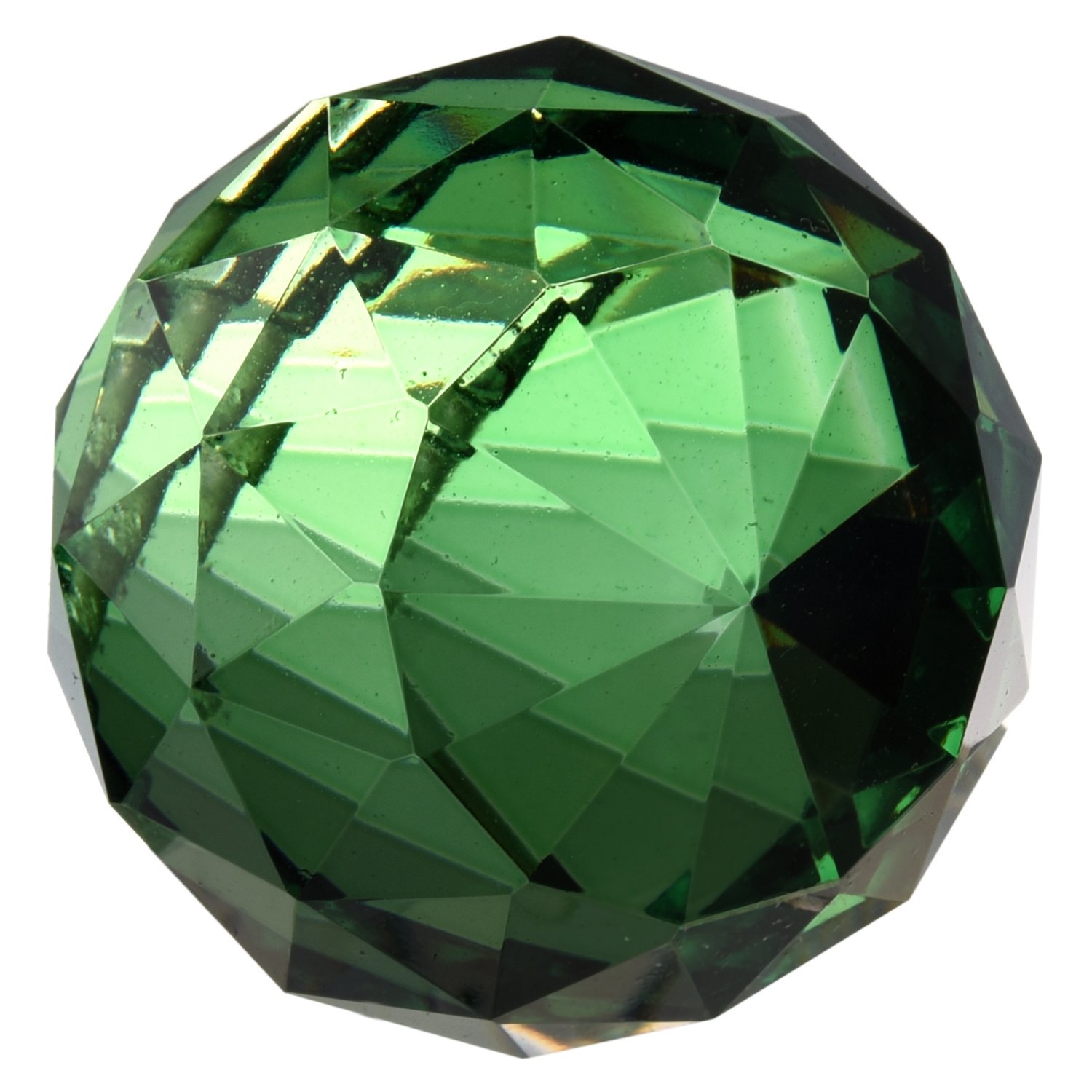 CSS 40mm Vintage Crystal Green Feng Shui Ball Placed in window ornament make Rainbow