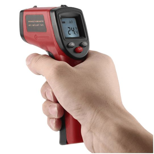 Digital Infrared Thermometer, Non-Contact IR Temperature Gun Instant-read with 2 AAA Batteries(Included) Emissivity 0.95
