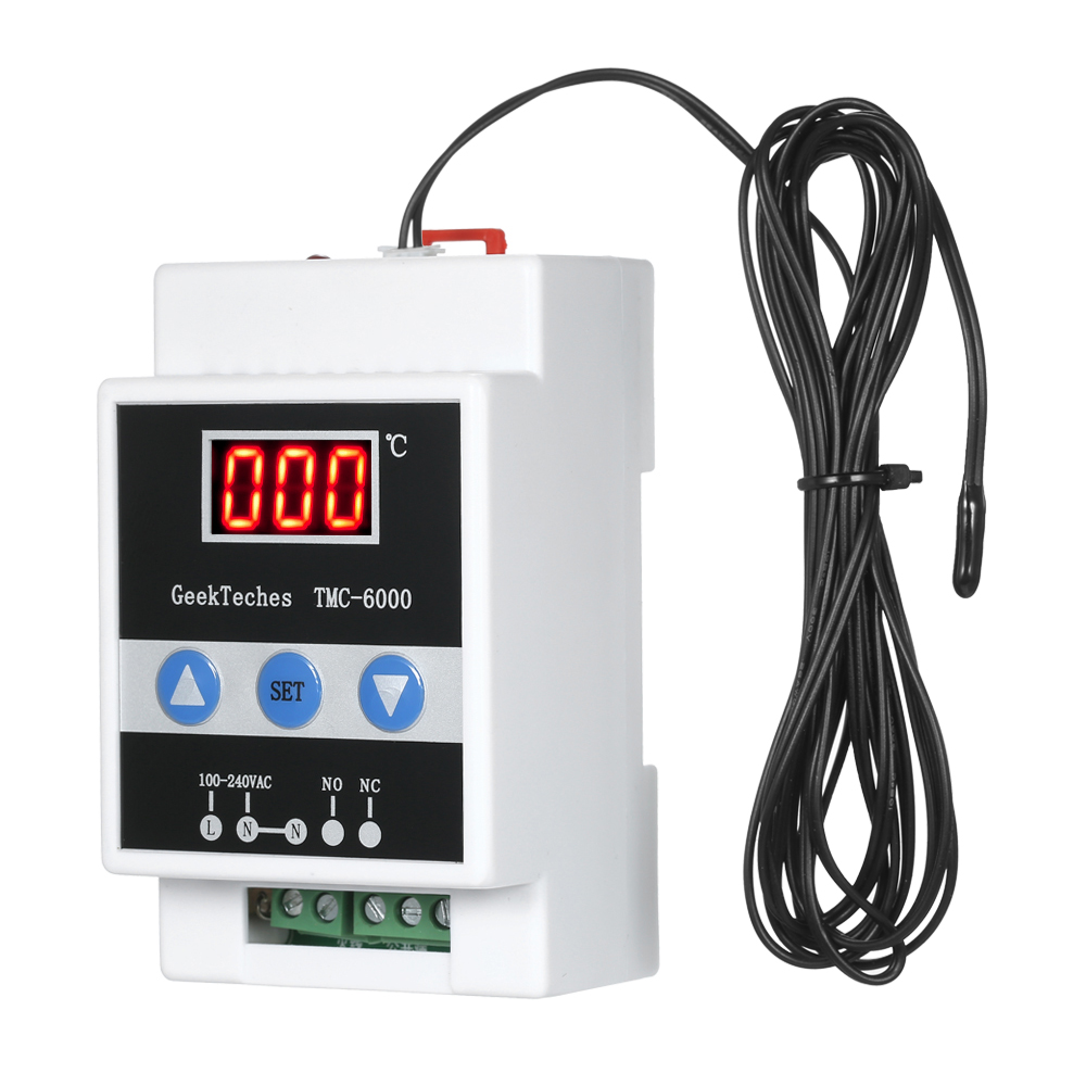 TMC-6000 110-240V Guide Rail Thermoregulator Digital Temperature Controller Thermostat Refrigeration Heating Temperature Control