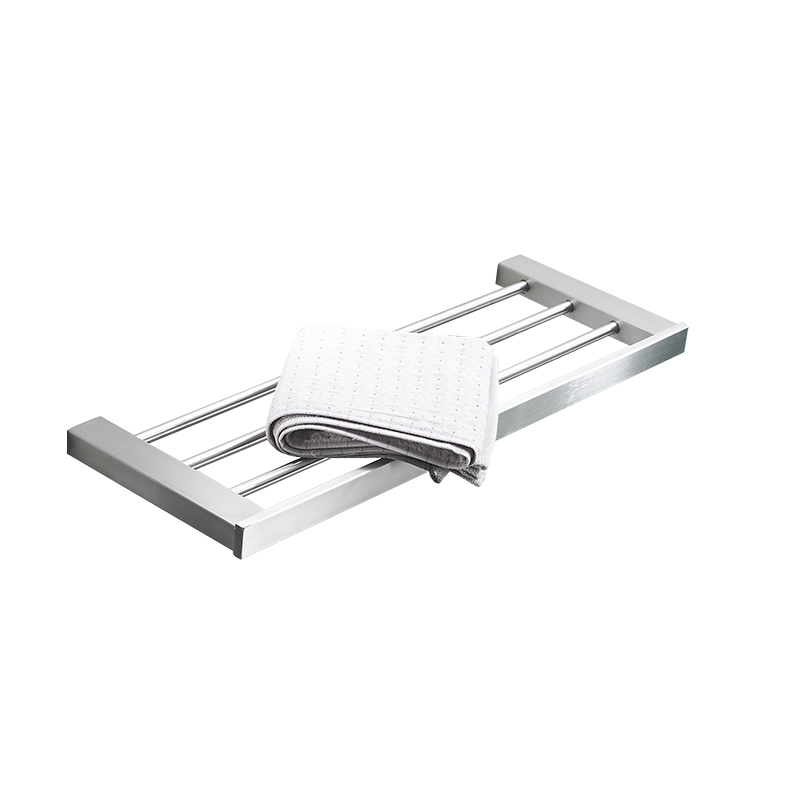 AUSWIND modern polish/brush silver 304 stainless steel bathroom towel rack towel bar wall mount bathroom hardware