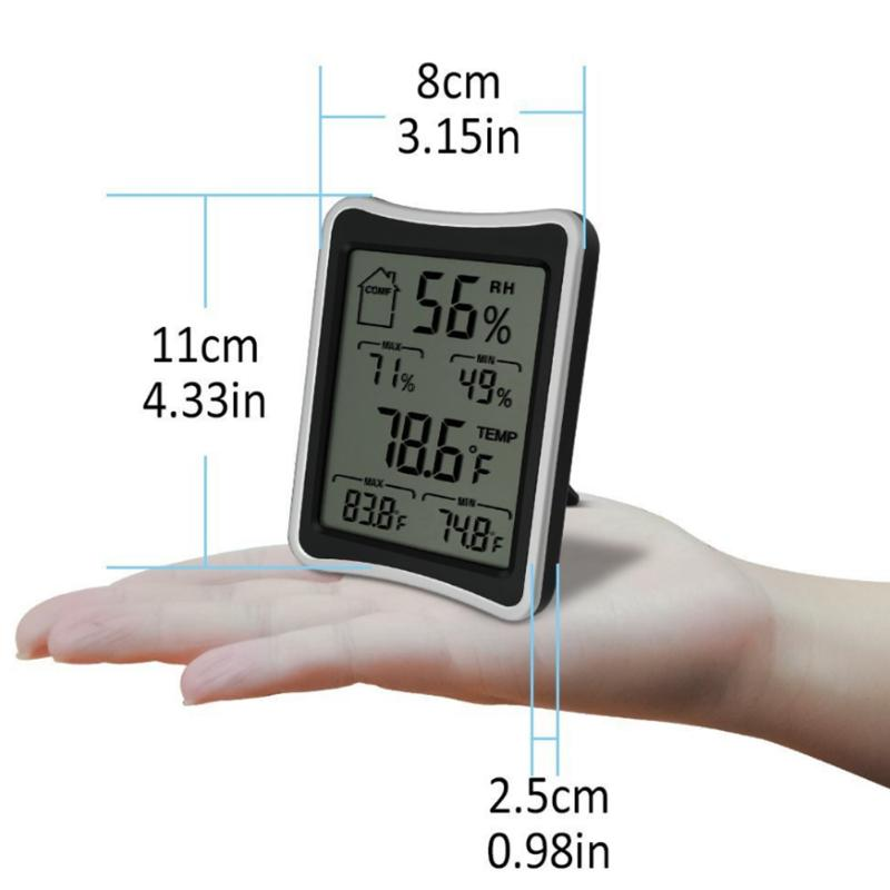 LCD Digital Thermometer Indoor Outdoor Hygrometer Wireless Weather Station for indoor/outdoor temperature