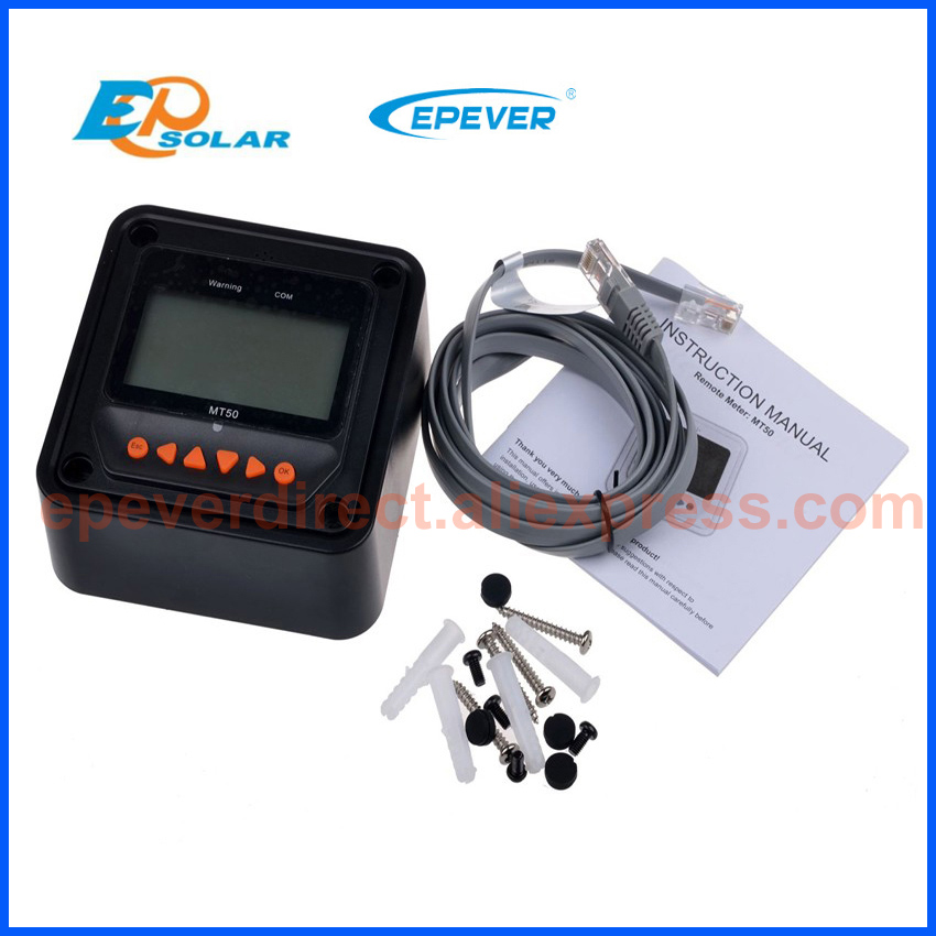 EP series solar regulator high efficiency tracer4215BN 40A 40amp with USB cable MT50 meter 12v 24v auto work