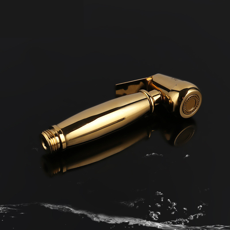 Gold Multifunction Hand Held Women Bidet Body Clean Toilet Flushing Gun Faucet Spray Nozzle Bathroom Water Saving Shower Head