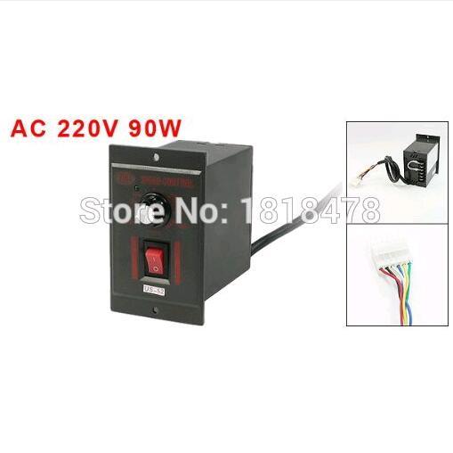 40W 220V AC 6 Pins Plug Gear Motor Speed Controller Switch US-52