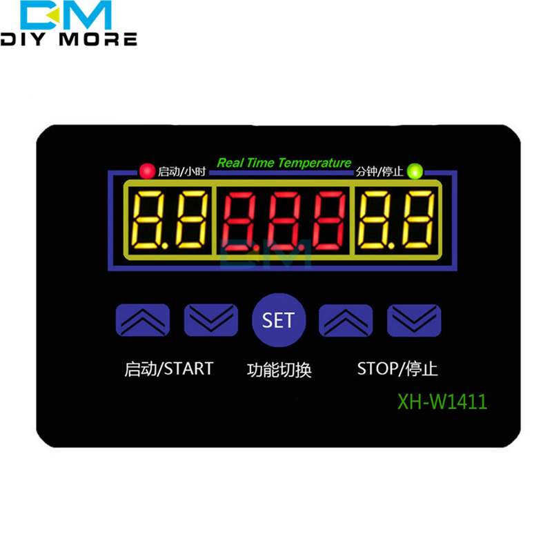 LED Digital Temperature Controller AC 220V 10A XH-W1411 12V Thermostat Control Switch