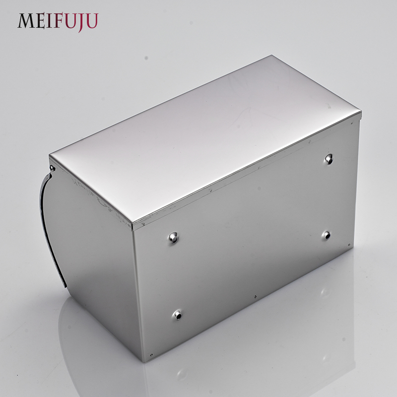 304 Stainless Steel Toilet Paper Holder with Shelf Box Tissue Toilet Paper Holders Dispenser Tissue Paper Wall mount roll holder
