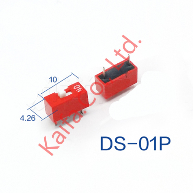 10pcs/lots red Direct dial code switch DIP switch DP-1P/2P/3P/4P/5P/6P/7P/8P/9P/10P 2.54MM DS pitch Side