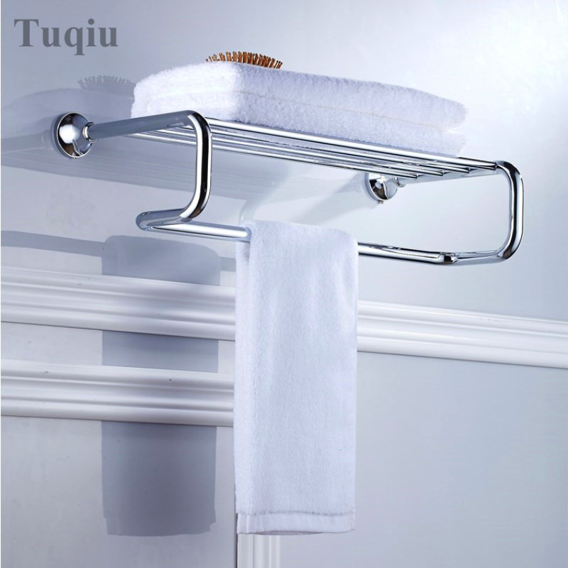 A Variety Of Colors In The 68 Series Fixed Bath Towel Holder Wall Mounted Towel Rack 60 cm Towel Shelf Bathroom Accessories