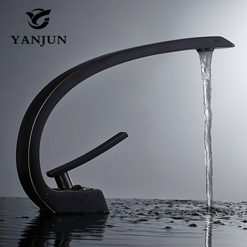 Yanjun Countertop Swivel Spout Brass White Painting Bathroom Faucet Vanity Vessel Sinks Mixer Cold And Hot Water Tap