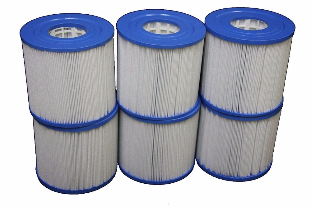 6pcs Unicel C-4401 spa pool fiter element 118mmx125mm,with 54mm female thread hot tub filter cartridge