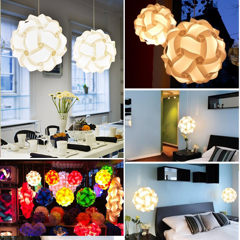 30pcs Jigsaw Lamp Elements IQ Puzzle DIY Size L Creative Bar Decor Light Lamp Shade Lampshade Design Home Decoration
