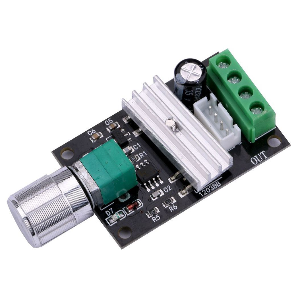 DC 6V 12V 24V PWM Motor Speed Switch Controller 3A 80W Variable Adjustable Reversible Speed Switching DC Motor Controller Driv