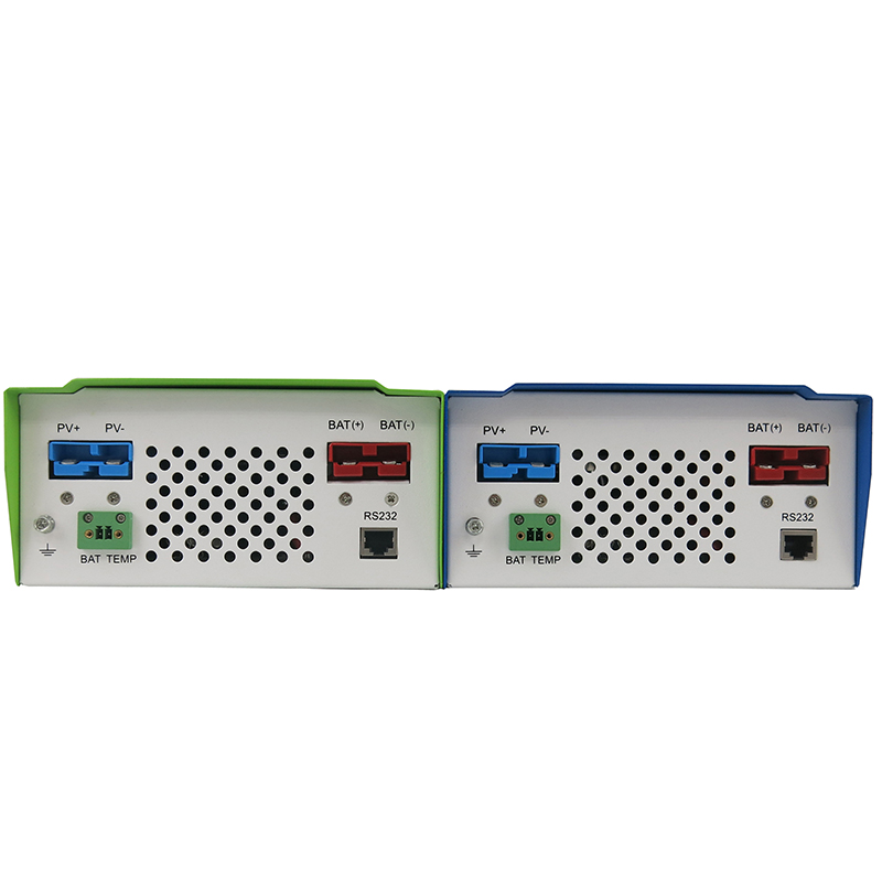 50A 60A MPPT Solar Charge Controller with LCD 48V 24V 12V Automatic Recognition RS232 Interface to Communicate with Computer