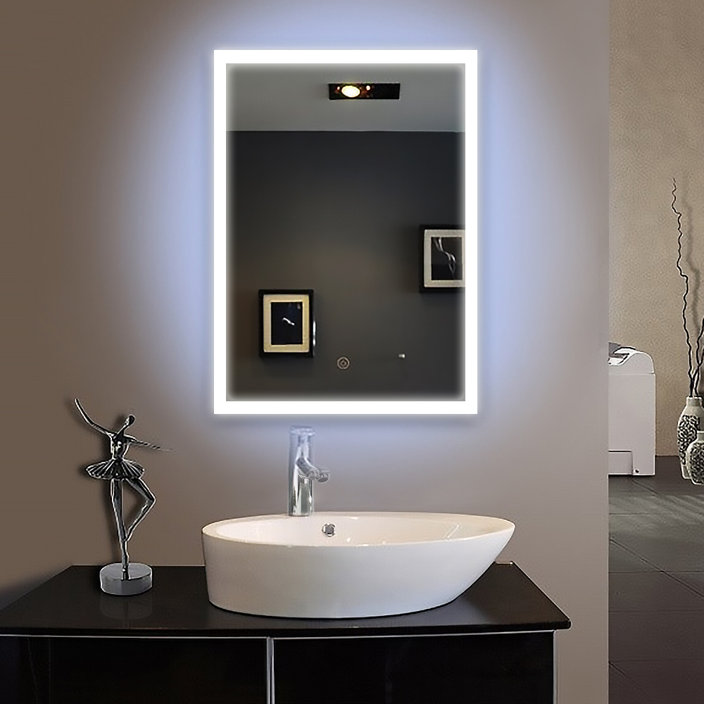 Frame led illuminated framed bath mirror 60X80cm  bathroom mirrors wall hung mirrors IP44 E102 90-240V  Fast shipping