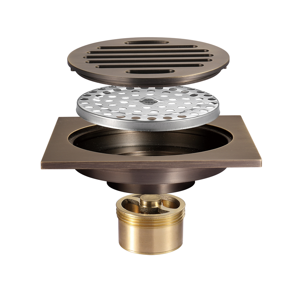 HIDEEP Electroplated Anti-odor Floor Drain For Bathroom Kitchen Balcony Shower Floor Drains Floor Grate Drain
