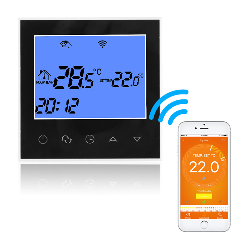WiFi Thermostat Remote Control for Electric Floor Heating 12/16A Underfloor Infrared Heater Temperature Control by Phone HT1269
