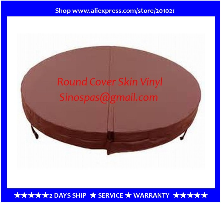Diameter 1900mm 10cm thickness Round hot tub cover leather can do any other size