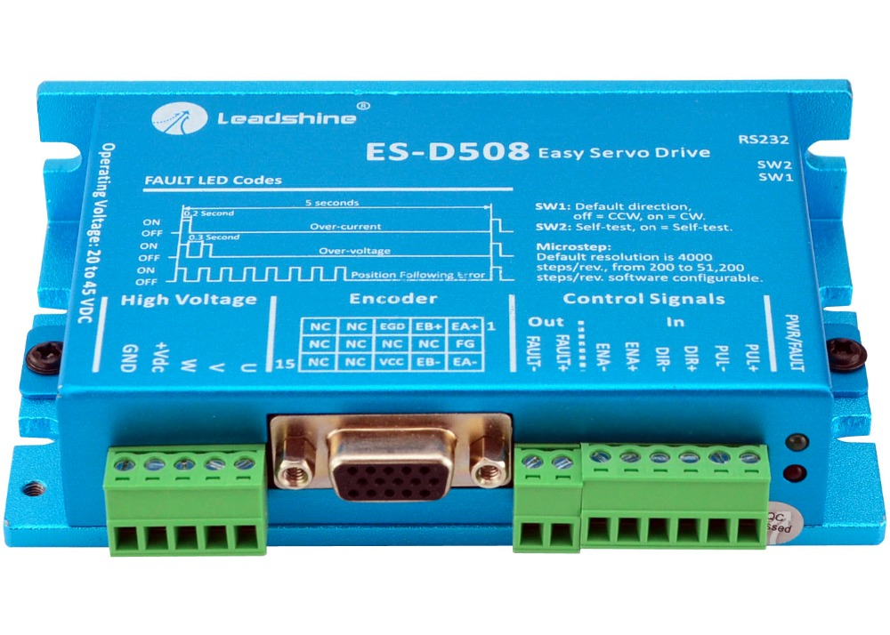 Leadshine ES-D508 Easy Servo Drive 20-50VDC Input 0.5-8A Output Current