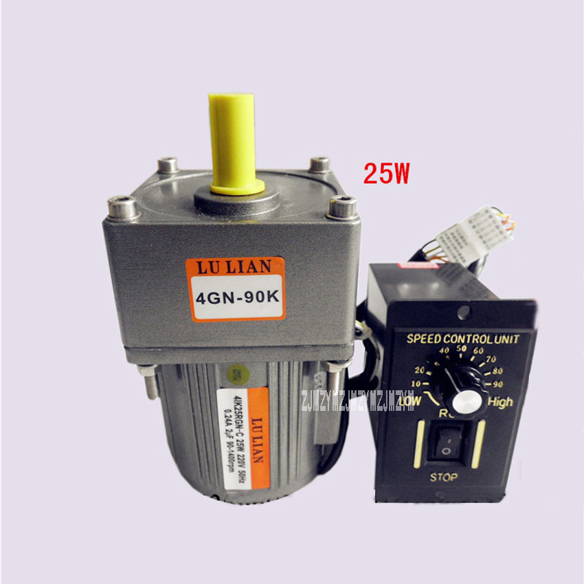 220V/110V 25w  Gear Variable AC  Speed Motor,Speed Motor Controller,Vertical Single-phase Geared  AC Motors + Ordinary Governor