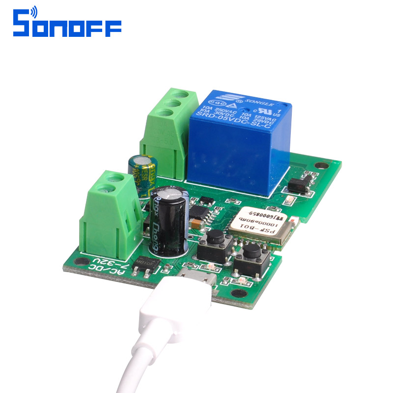 sonoff DC5V 7v-32v wifi switch wireless Relay module Smart