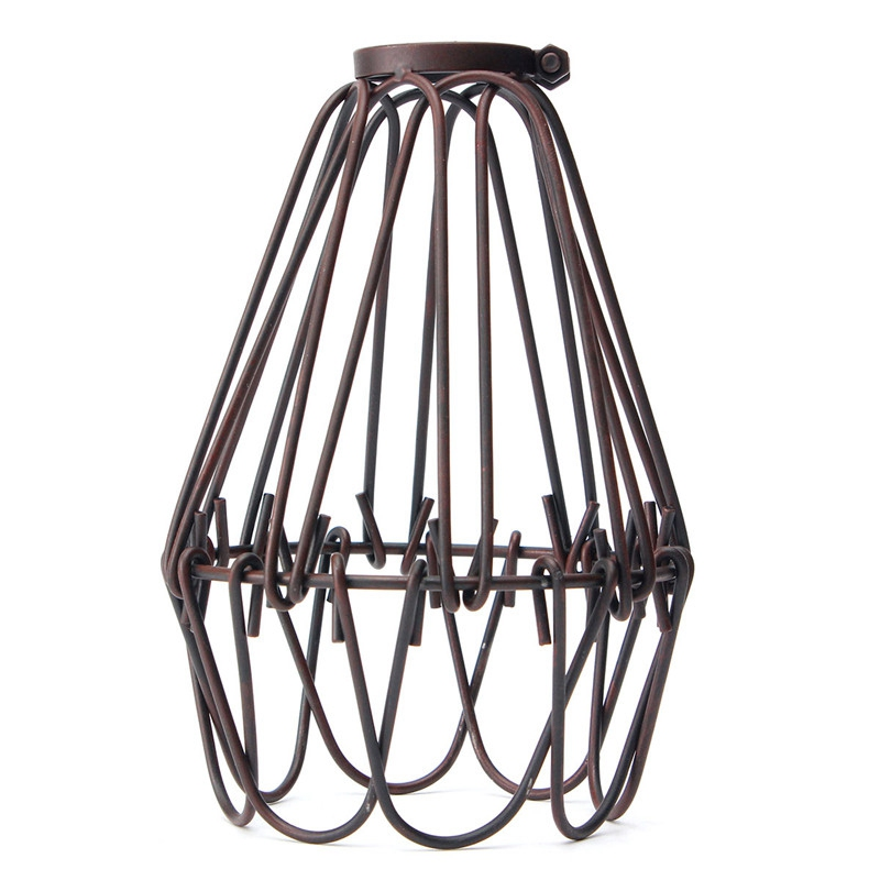 Lights & Lighting 1pcsvintage Retro Industrial Lamp Covers Pendant Trouble Light Bulb Guard Wire Cage Ceiling Fitting Hanging Bars Cafe Lamp Shade Modern Design Lamp Covers & Shades