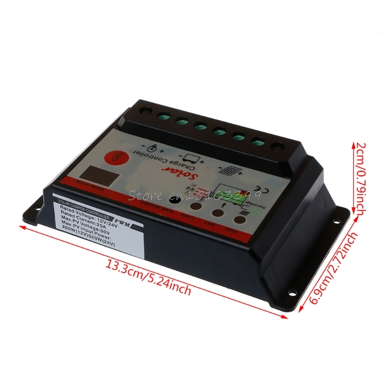 10A 20A 30A 12V/24V solar charge controller,solar regulator for solar panel system use,double LED light display Dropship