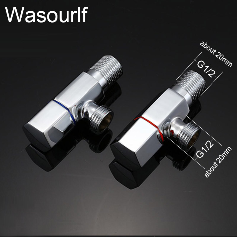 1pcs angle valve faucet kitchen  bathroom  toilet accessories brass chrome plated