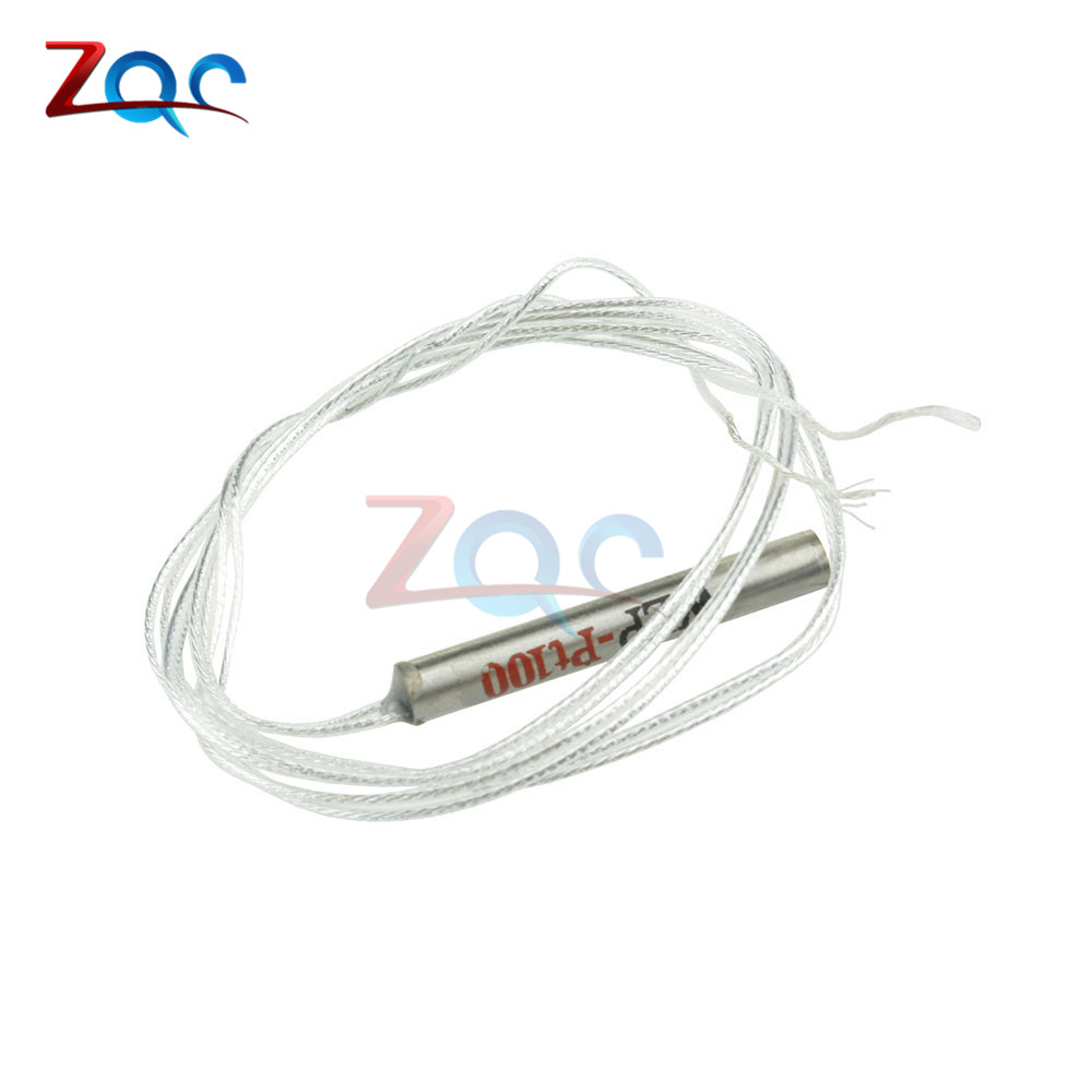 2pcs PT100 Platinum Resister Temperature Sensor Waterproof Temp Probe