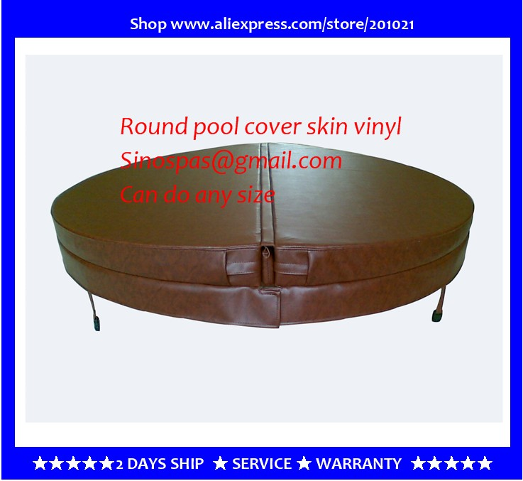 Diameter 2000mm 10cm thickness Round hot tub cover leather can do any other size