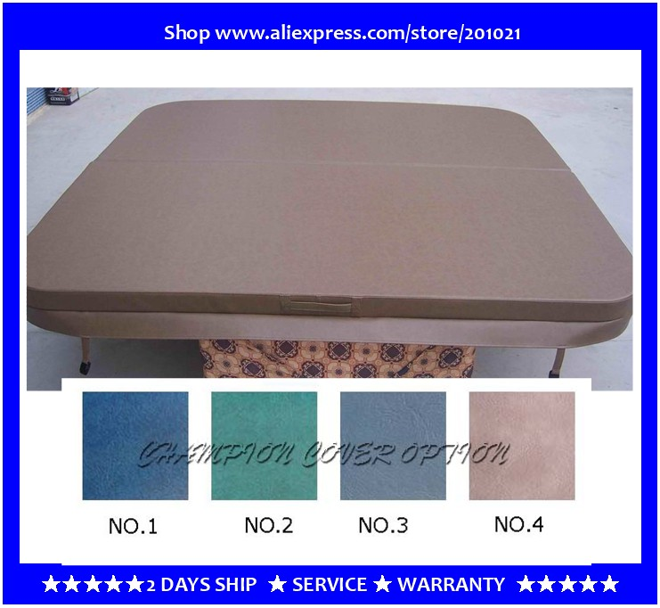 2150mmX2150mm hot tub spa cover leather skin , can do any other size