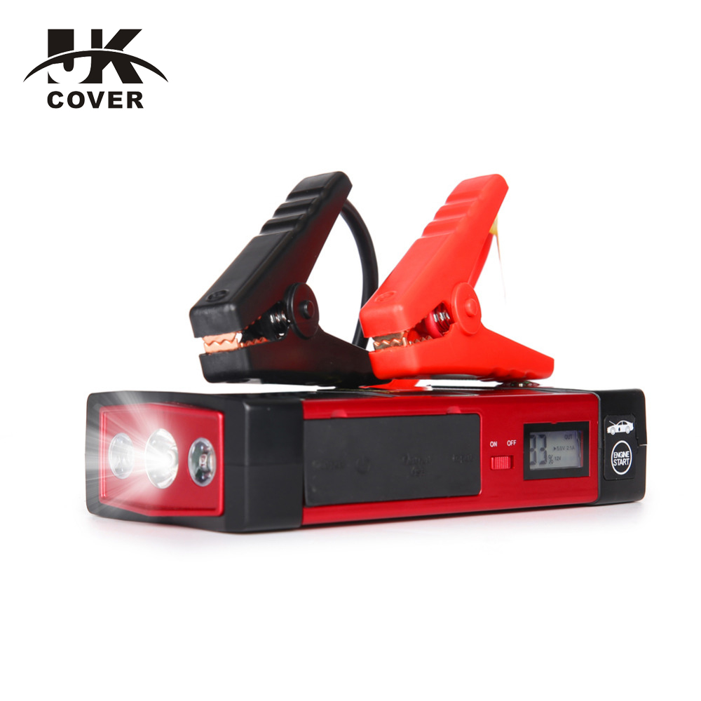 JKCOVER Factory 18000mAh 60C Discharge Car Jump Starter Starting Power Bank Diesel Auto Lighter Battery Portable Pack Booster